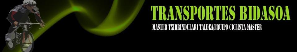 Cabecera Transportes Bidasoa Txirrindulari Master Taldea