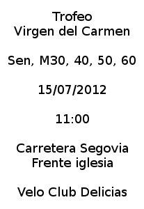 Cartel Trofeo Virgen del Carmen 2012