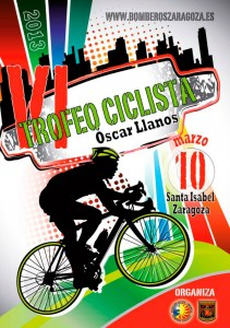cartel trofeo ciclista Oscar Llanos