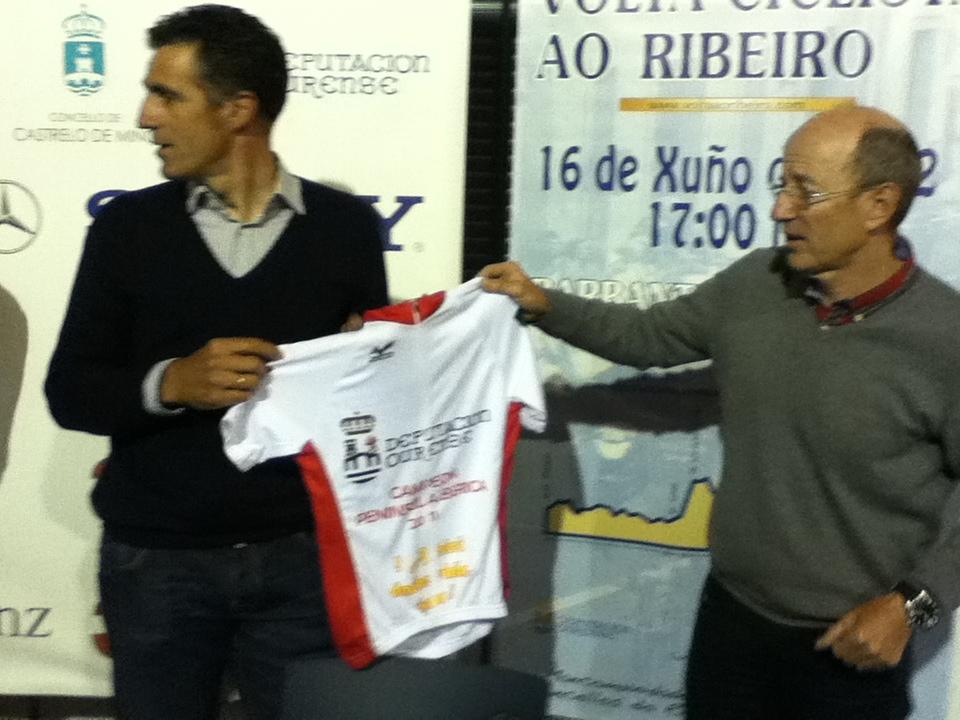 Indurain y Carlos Moure