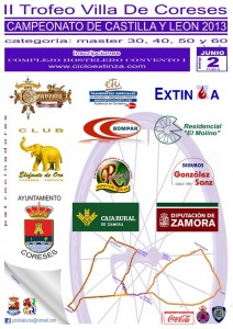 Cartel II Trofeo Máster Villa de Coreses 2013