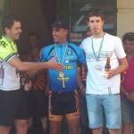 Podium del Campeonato de Asturias de la categoría senior. Foto: Cerveza Caleya