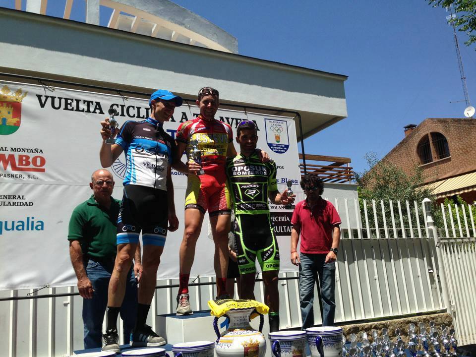 Podium 3ª etapa de la Vuelta a Talavera