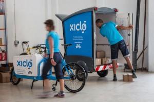 Transporte de mercancias en bicicleta