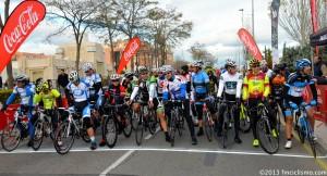 Salida másters. Foto: Federación Madrileña de Ciclismo