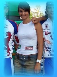 Marisa, azafata de la Vuelta a Zamora