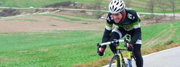 Iñaki Villoria escapado en solitario. Foto: Transportes Bidasoa
