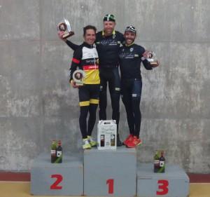 Podium absoluto del VIII Trofeo Juan Carlos Domínguez