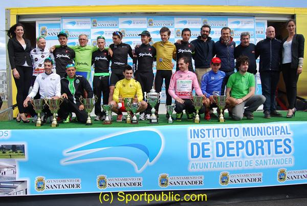 Podium Vuelta a Santander 2014