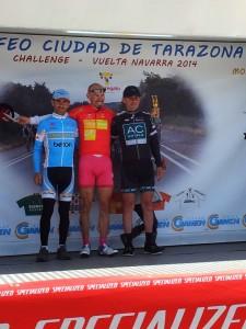 Podium Vuelta Navarra 2014. Foto: G.D. Betón