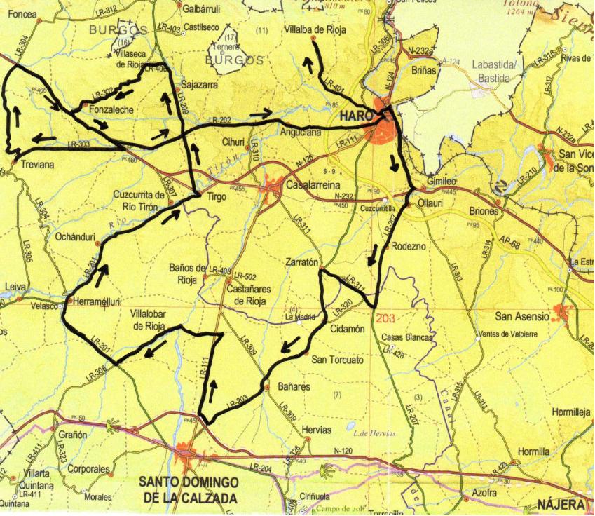 """Mapa del recorrido del Memorial """"Álvaro Fernández"""""""