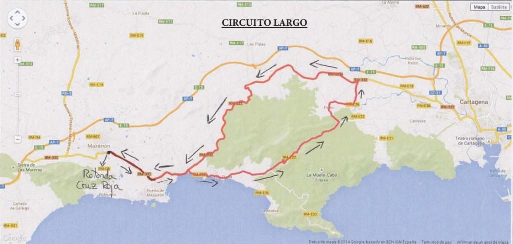 Circuito largo Campeonato de España Mazarrón 2014.
