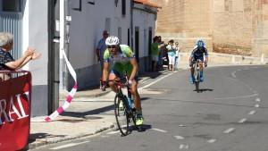 Llegada a meta de Larrea y Peñas. Foto: Eduardo Roldán