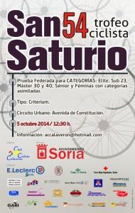 CARTEL 2014 SAN SATURIO