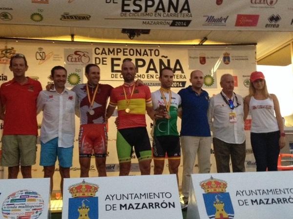 Podium M30 A: Berenguer, Pispajo y Robles. Foto: RFEC