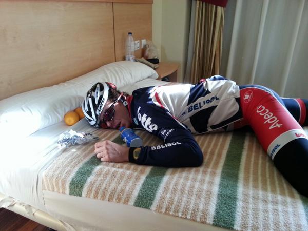 Adam Hansen cansado