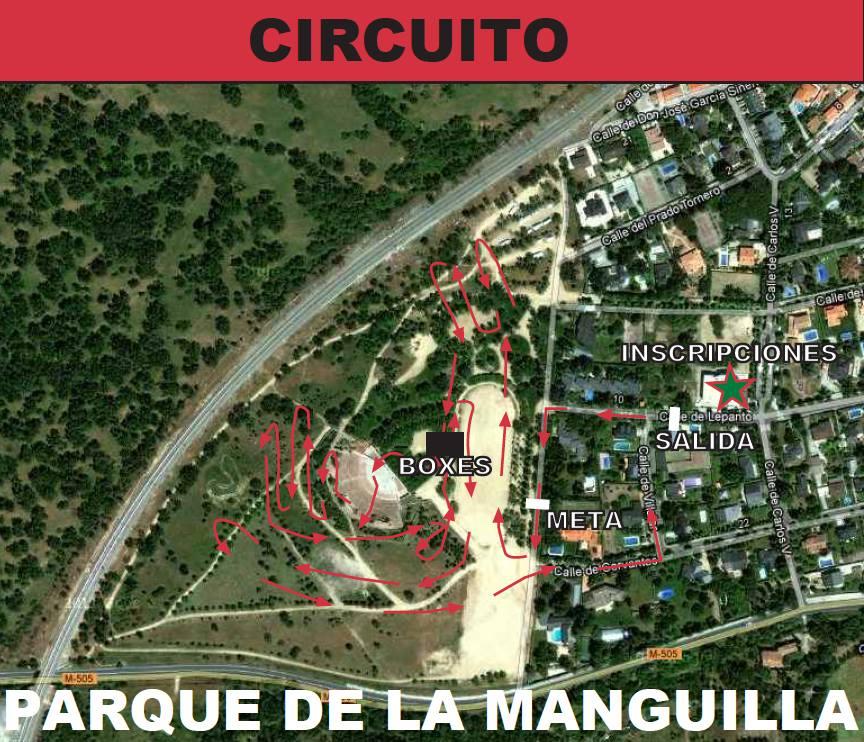 Plano del circuito del ciclocross de El Escorial