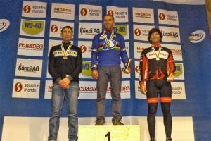 Podium 45 a 49 años. Foto: Federación Asturiana de Ciclismo