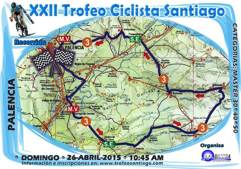 Recorrido del Trofeo Santiago 2015