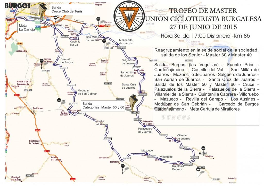Recorrido Trofeo Unión Cicloturista Burgalesa