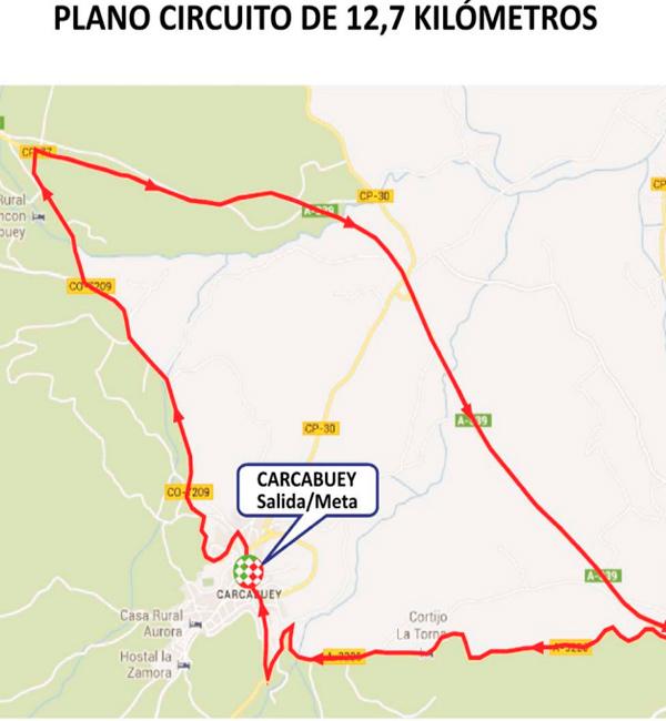 Recorrido Vuelta Carcabuey