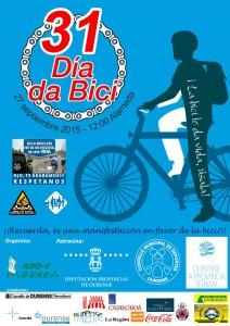 Cartel Día de la Bici en Orense