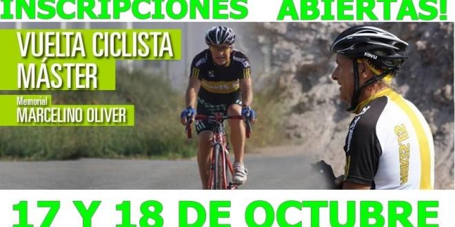 Inscripciones Vuelta Ciclista Máster Marcelino Oliver