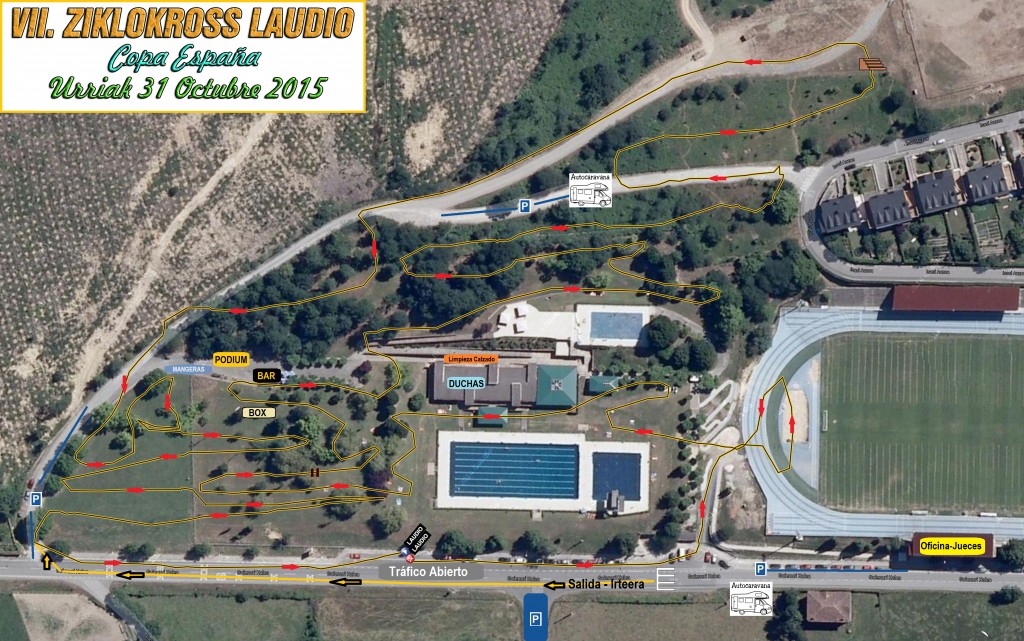 Recorrido del Ciclocross de Llodio 2015