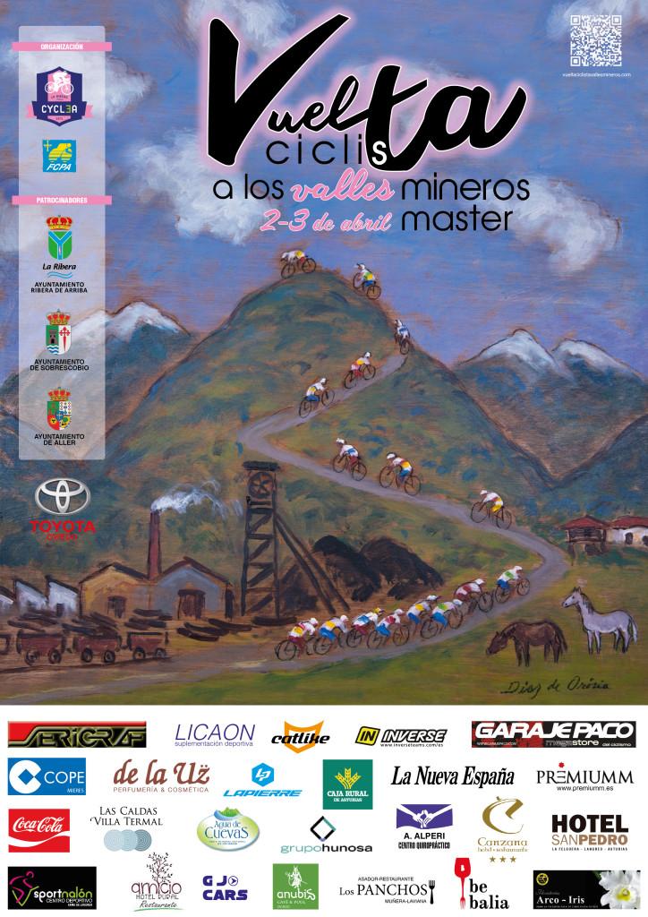 Cartel de la I Vuelta Ciclista a los Valles Mineros Máster