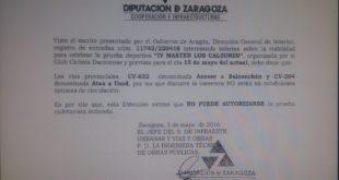 Desautorización Diputación Zaragoza