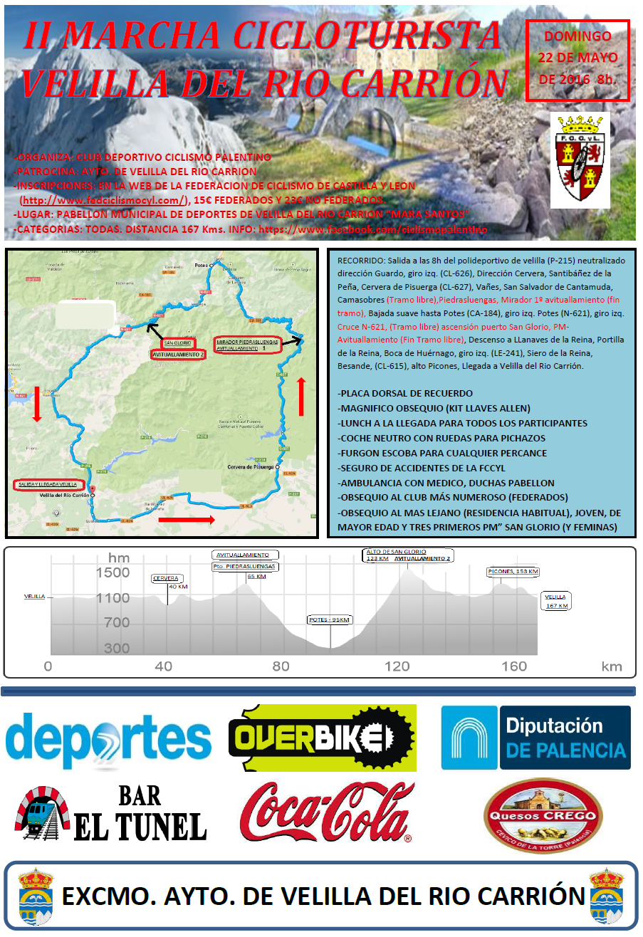 Fccyl Calendario.Marcha Cicloturista Velilla Del Rio Carrion Ciclismo Master