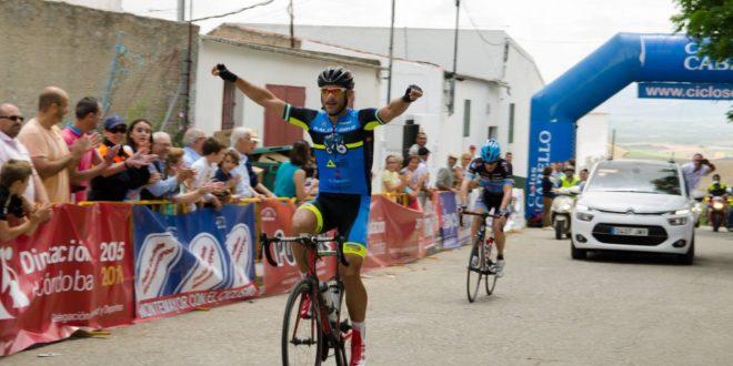 Llegada del vencedor. Foto: Peña Ciclista Montemayor