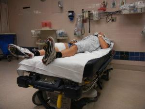 Ciclista en hospital