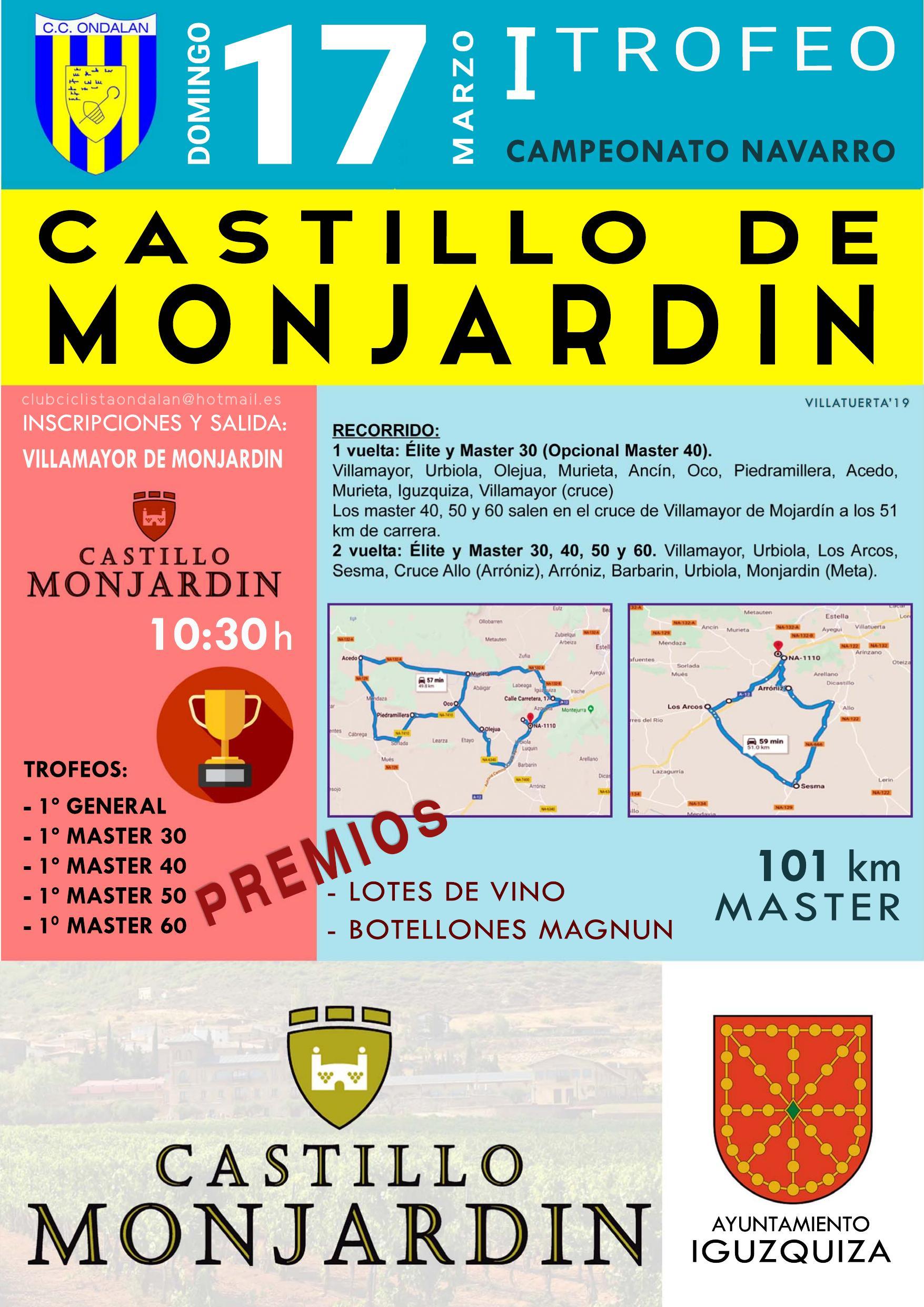 Resultado de imagem para I Trofeo Bodega Castillo de Monjardin. Campeonato Navarro Master